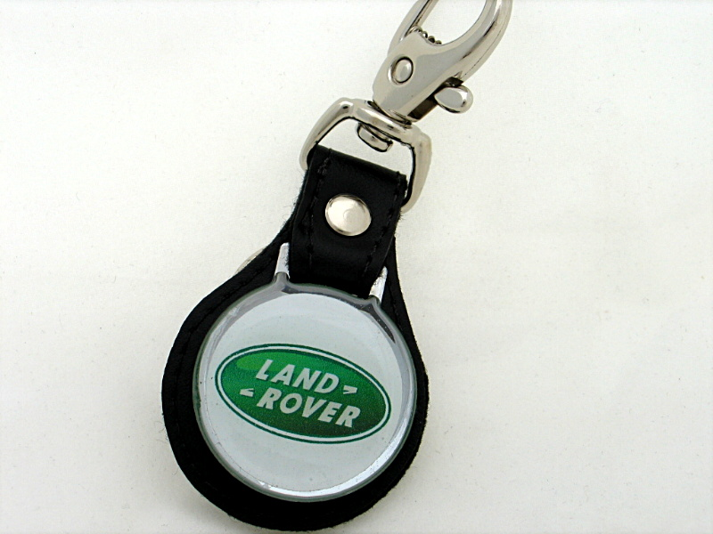 3D Land Rover Leather Keyring. DESC. (Each) Leather keyring with resin